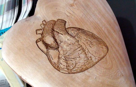 Engraving Heart on Heart